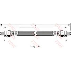 TRW PHC248 Тормозной шланг