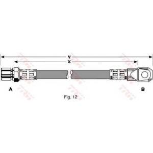 TRW PHD281 Гальмівний шланг Lada 2101-12, 21110-112, Niva