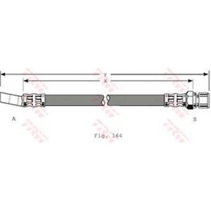 TRW PHD348 Шланг тормозной OPEL, SAAB, передн. (пр-во TRW)