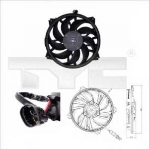 TYC 8050006 Вентилятор, охлаждение двигателя