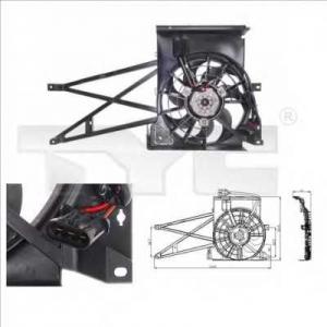 TYC 8250009 Вентилятор, охлаждение двигателя