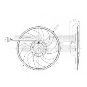 TYC 837-0037 Вентилятор радиатора VW Polo 1.2/1.4/1.6E, 1.4/1.9TDi (05>) SK Fabia/Roomster SE Ibiza @390 260/90B