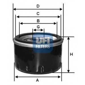 Масляный фильтр 2319600 ufi - FIAT PANDA (141A_) Наклонная задняя часть 750 (141AA)