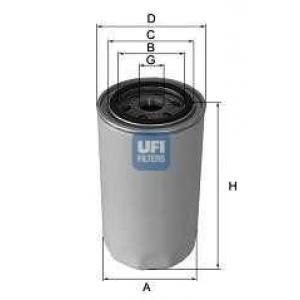 UFI 23.457.00 Фильтр масляный 8140.43/F1AE0481C 11/04-> (M22x1.5 d=95mm h=140mm 1 резинка)