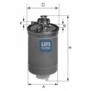 UFI 24.003.00 Топливный фильтр