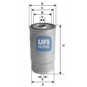 UFI 24.122.00 Топливный фильтр