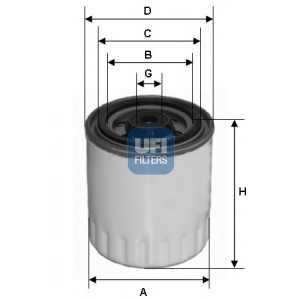 UFI 24.321.00 Топливный фильтр