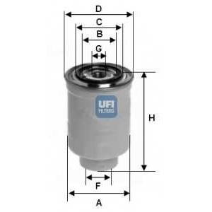 UFI 24.366.00 Топливный фильтр
