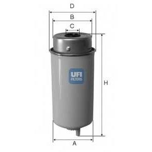 UFI 24.432.00 Топливный фильтр