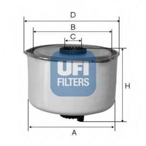 UFI 24.454.00 Топливный фильтр