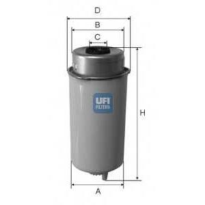 UFI 24.457.00 Топливный фильтр