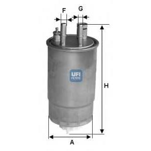 Топливный фильтр 24one00 ufi - FIAT PUNTO EVO Наклонная задняя часть 1.3 D Multijet