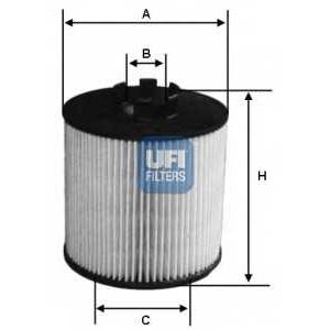 UFI 25.047.00 Масляный фильтр