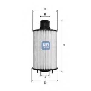 UFI 25.073.02 Масляный фильтр