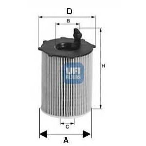 UFI 25.105.00 Масляный фильтр