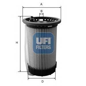 UFI 26.065.00 Топливный фильтр