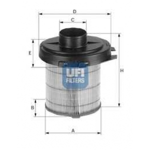 UFI 27.845.02 Воздушный фильтр