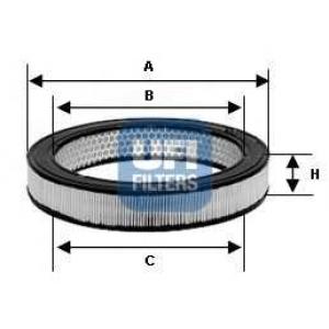 UFI 30.802.01 Воздушный фильтр