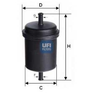 UFI 31.512.00 Фильтр топливный