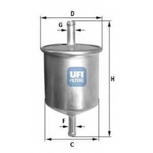 UFI 31.529.00 Топливный фильтр