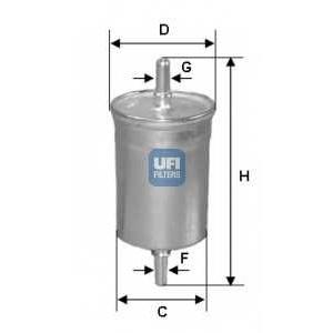 UFI 31.843.00 Топливный фильтр