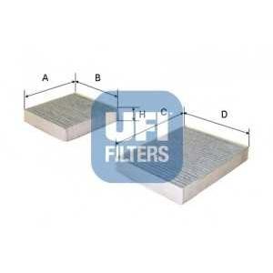 UFI 54.164.00 Фильтр, воздух во внутренном пространстве