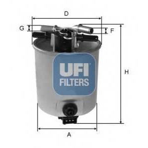 UFI 55.393.00 Топливный фильтр