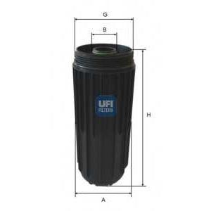 UFI 65.087.00 Spin-on Oil filter