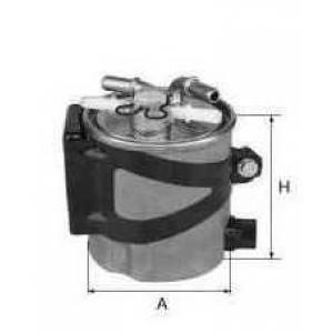 UNIFLUX FILTERS XN380 Фильтр топливный (без датчика воды, с клапаном) Megane2/Scenic2 K9K 09/05->