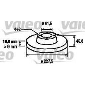 VALEO 186151 Тормозной диск