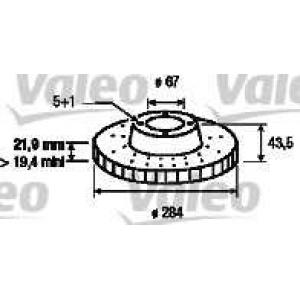 VALEO 186185 Brake disc