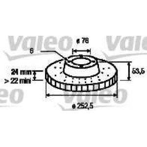 VALEO 186218 Brake disc