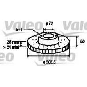 VALEO 186712 Brake disc