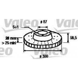 VALEO 186890 Brake disc