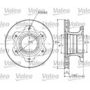 VALEO 187107 Brake disc