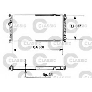VALEO 230945 Радиатор системы охлаждения - CLASSIC