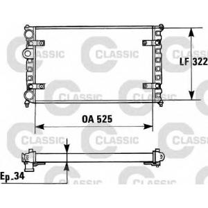 VALEO 230947 Радиатор охлаждения SEAT, VW (пр-во VALEO)