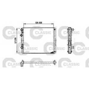 Радиатор, охлаждение двигател 230956 valeo - VW LUPO (6X1, 6E1) Наклонная задняя часть 1.2 TDI 3L