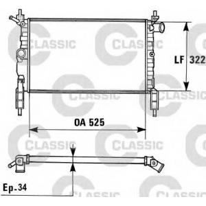 230975 valeo Радиатор, охлаждение двигателя OPEL ASTRA фургон 1.4 i