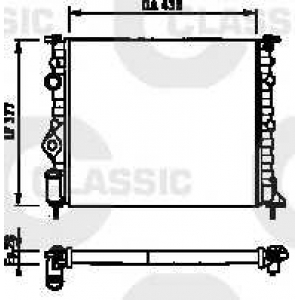 231378 valeo Радиатор, охлаждение двигателя RENAULT CLIO Наклонная задняя часть 1.2 16V (BB05, BB0W, BB11, BB27, BB2T, BB2U, BB2V, CB05...)