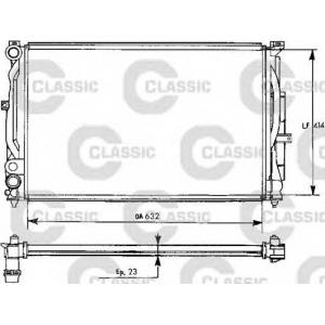 VALEO 231537 Радиатор охлаждения AUDI, SEAT, VW (пр-во VALEO)