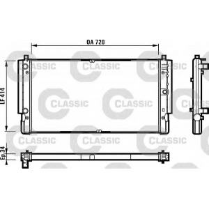 Радиатор, охлаждение двигател 231616 valeo - VW TRANSPORTER IV автобус (70XB, 70XC, 7DB, 7DW) автобус 2.5 TDI