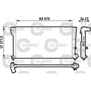 Радиатор, охлаждение двигател 231744 valeo - PEUGEOT 306 Наклонная задняя часть (7A, 7C, N3, N5) Наклонная задняя часть 1.8 D