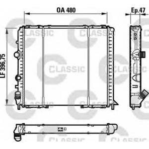 Радиатор, охлаждение двигател 232071 valeo - RENAULT CLIO II (BB0/1/2_, CB0/1/2_) Наклонная задняя часть 1.4 16V (B/CB0L)