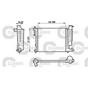 Радиатор, охлаждение двигател 232534 valeo - CITRO?N ZX (N2) Наклонная задняя часть 1.1