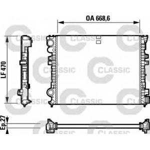 Радиатор, охлаждение двигател 232692 valeo - PEUGEOT 806 (221) вэн 2.0 HDI