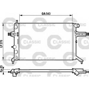Радиатор, охлаждение двигател 232795 valeo - OPEL ASTRA G Наклонная задняя часть (F48_, F08_) Наклонная задняя часть 1.4 16V