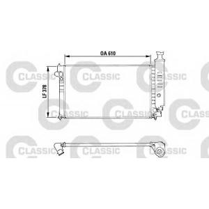 Радиатор, охлаждение двигател 310919 valeo - PEUGEOT 405 I (15B) седан 1.9 4x4