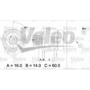 VALEO 437341 Генератор