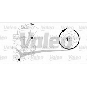 VALEO 455720 Стартер, 12в 2квт